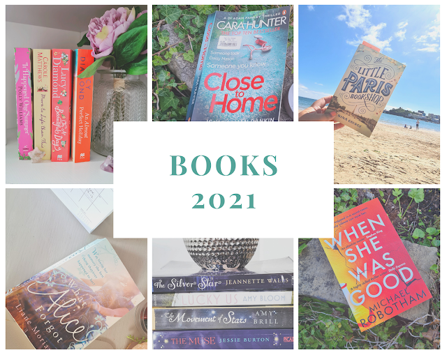 Collage of 6 photo each with books i've read this year