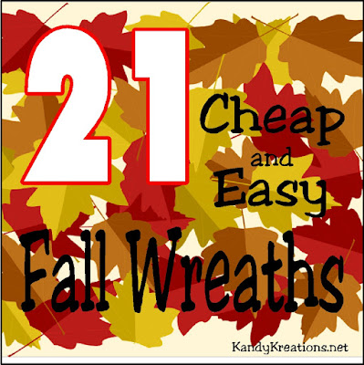 Even if you're not incredibly crafting, you can decorate for fall cheap and easily! Check out these 21 cheap and easy fall wreaths for your front door or Fall party. There are some super cute ideas here, so check them out now