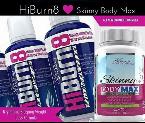 Buy 2 bottles of HiBurn8 night time weight loss formula and get 1 bottle of Skinny Body Max free. Buy 3 bottles of HiBurn8 and get 3 bottles of Skinny Body Max free (best deal) for the 90 day challenge!