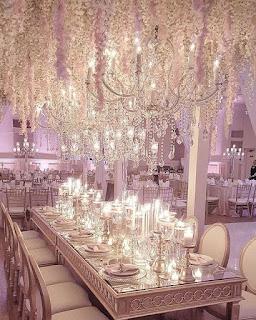 decorazione sala per matrimonio lussuoso