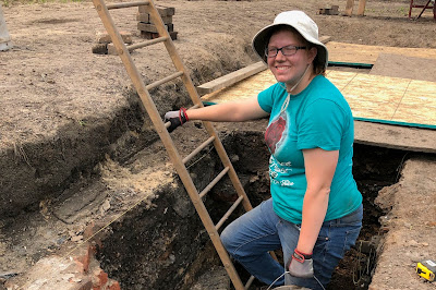 UIS student Katie Brethorst helps to excavate 1908 Springfield Race Riot site