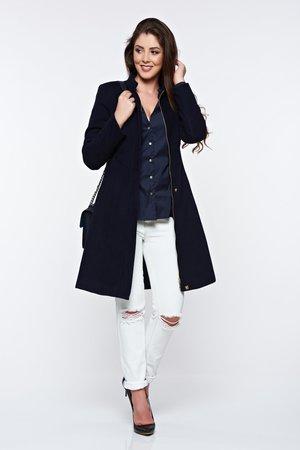 palton dama casual albastru