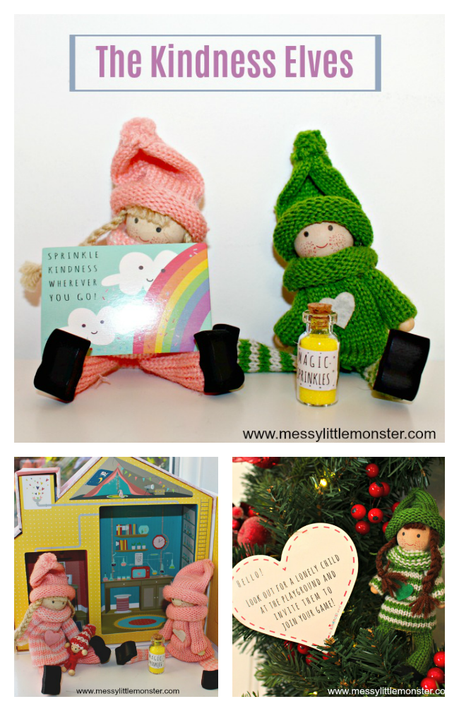The Kindness Elves are an alternative to the popular Christmas tradition of Elf on the Shelf. Encouraging small acts of kindness and good deeds these magical elves teach children how to be kind and thoughtful.