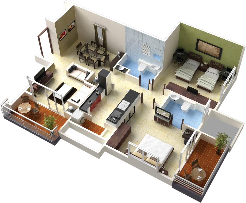 Custom%2BStylish%2BModern%2BHouse%2B3D%2BFloor%2BPlans%2B%2B%25283%2529 Customized Trendy Trendy Space 3-D Ground Plans Interior