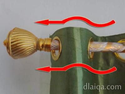 pasang kain gorden ke batang gorden