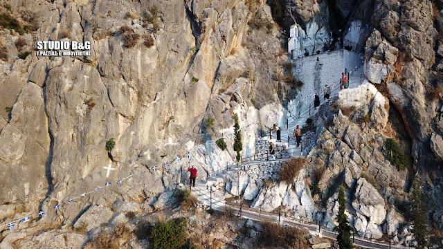 Γιορτάζει το εκκλησάκι της Παναγίας της Κατακεκρυμμένης στη Καραθώνα Ναυπλίου (βίντεο drone)