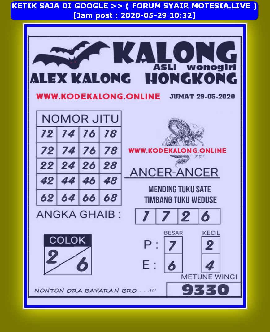 Kode syair Hongkong Jumat 29 Mei 2020 38