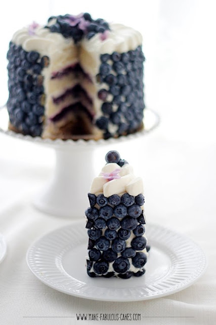 Blueberry Cream Cake Recípe