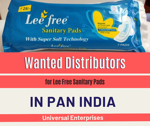 Wanted Distributors, Super Stockist & C&F for Lee Free Sanitary Pads In Pan India