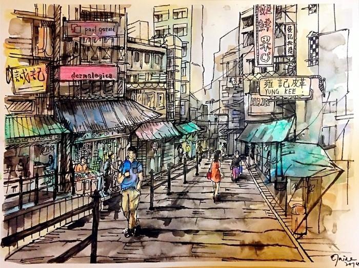 Китайский художник-акварелист. Elaine Chiu