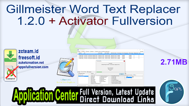 Gillmeister Word Text Replacer 1.2.0 + Activator Fullversion