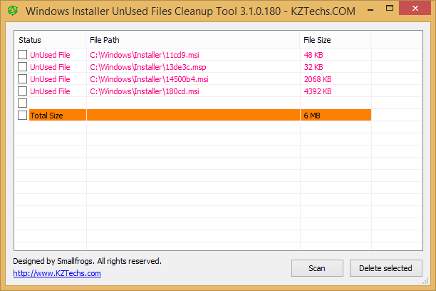 Windows Installer Unused Files Cleanup Tool (WICleanup)