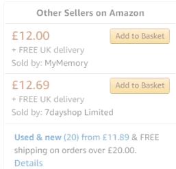 英國Amazon產品比較價格