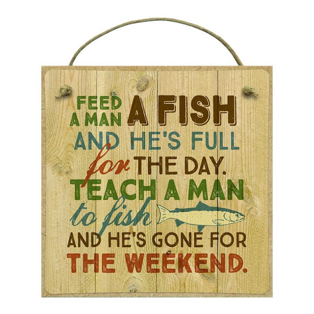 Feed A Man A Fish Wall Decor