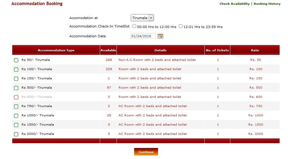 Booking tirupati online room Srinivasam Tirupati