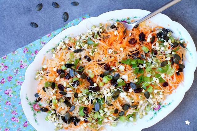 salade rutabaga carottes haricots mungo germés veganfood healthyfood manger sain
