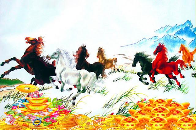 Tranh Ngựa Vàng