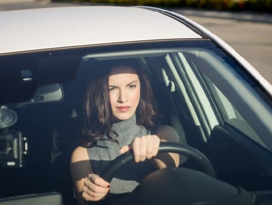 Woman Driving and the brain