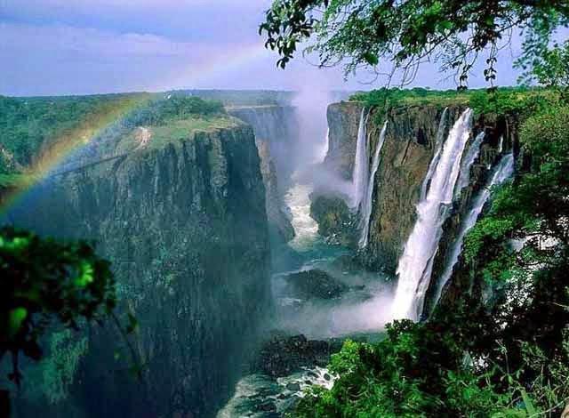 Cataratas Victoria en Zimbawe, Africa.