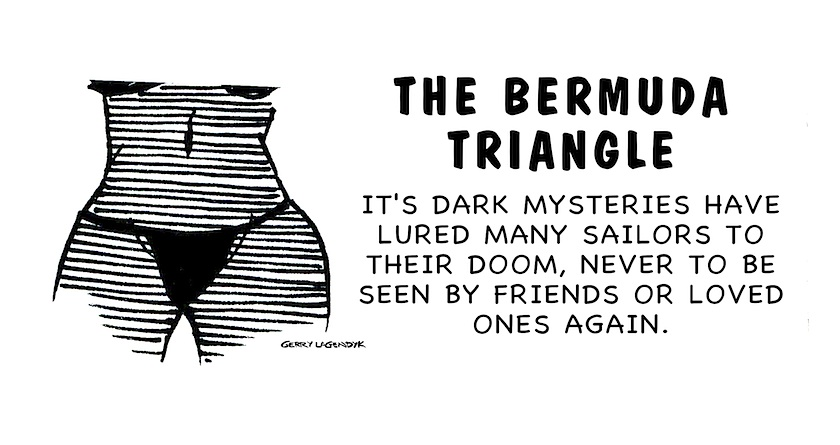 Bermuda triangle cartoon