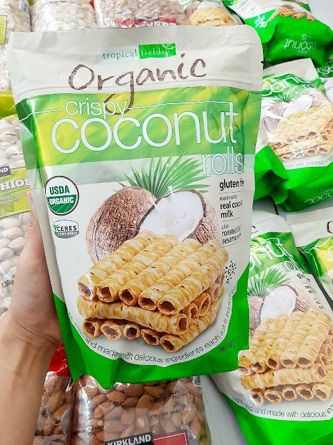 Bánh quế dừa Tropical Fields Organic Crispy Coconut Rolls