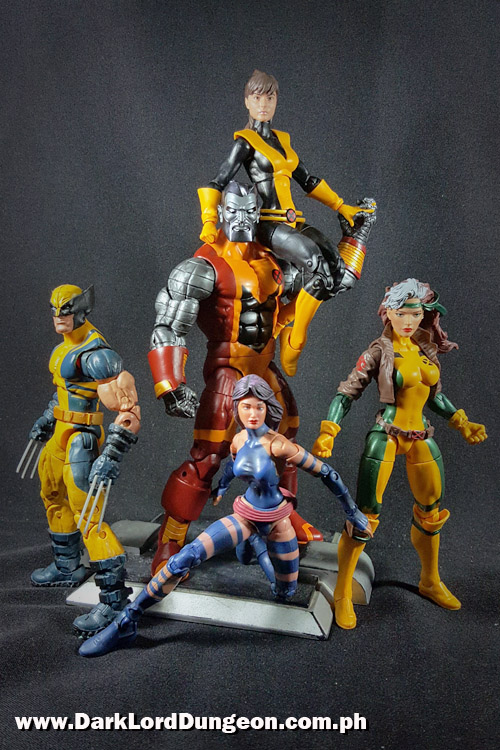Marvel Legends Wolverine, Psylocke, Rogue, Colossus and Kitty Pryde - Shadowcat