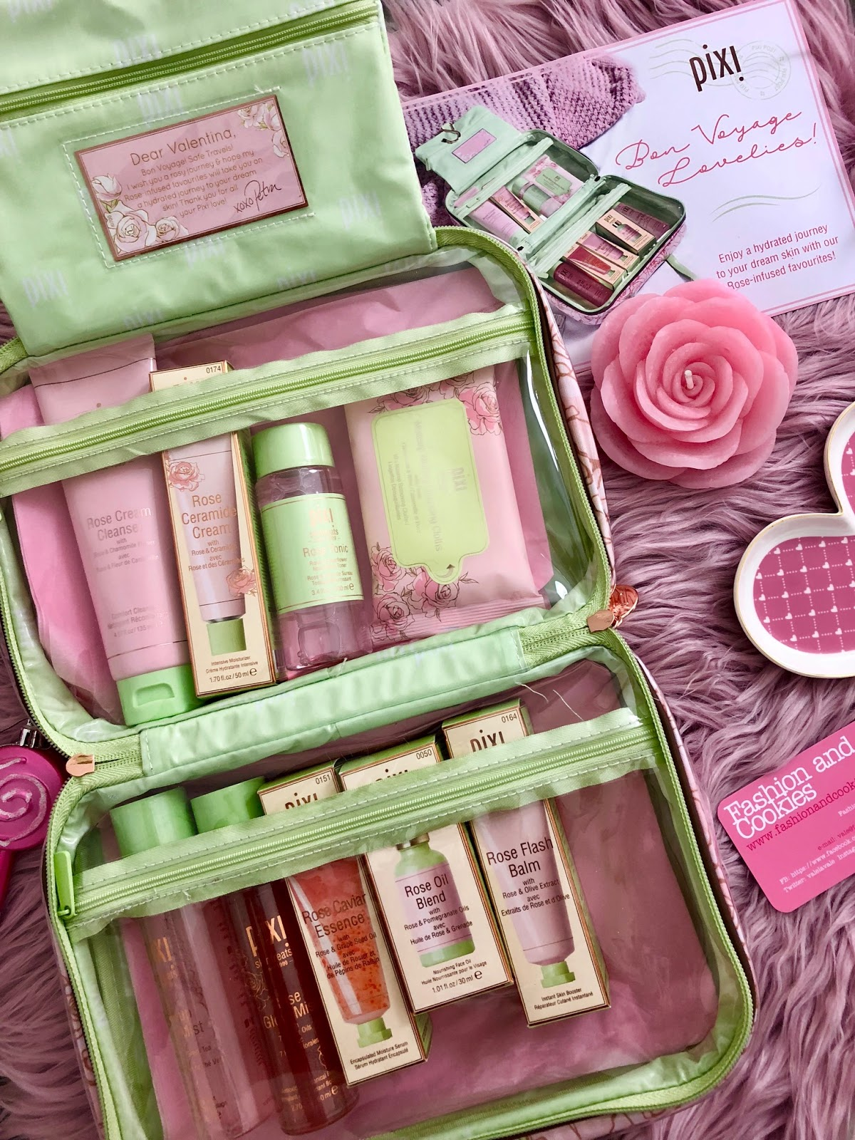 Pixi Beauty Ultra Luxe Rose-Infused Skintreats Set on Fashion and Cookies beauty blog, beauty blogger