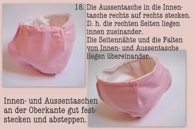 Nähanleitung Schnittmuster Ostern Mädchentasche Ostereier-Sammeltasche