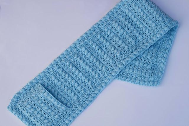 4-Crochet Imagen Bufanda con bolsillos a crochet y ganchillo por Majovel Crochet