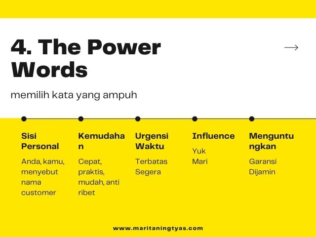 the power words of copywriting