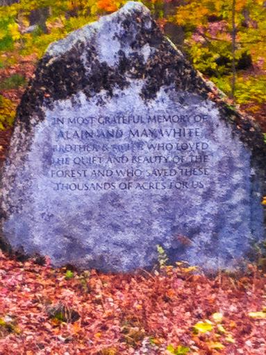 Memorial along Mattatuck Trail - White Memorial Foundation