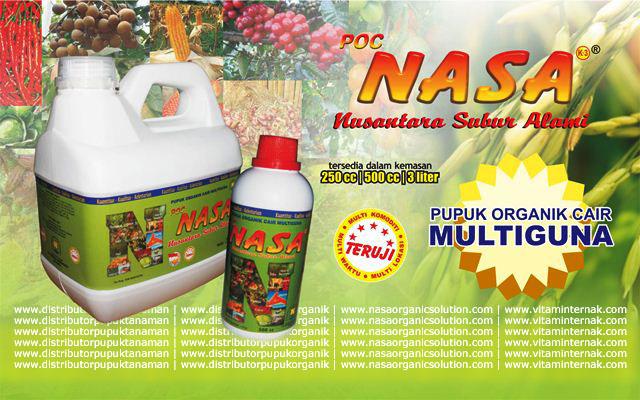 Pupuk Organik Cair Multifungsi POC NASA -  Solusi Nutrisi Budidaya Perikanan Anda