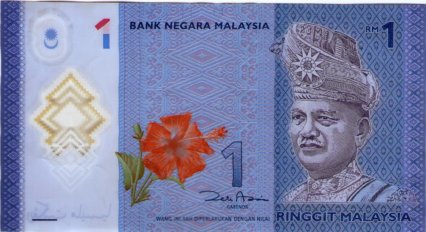 Uang 1 Ringgit Malaysia  KOLEKSI UANG KERTAS  KOIN DALAM