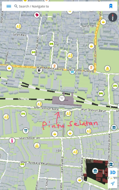 jalan Gardu Jati, jalan Cibadak, Pagarsih, Jalan Jamika, jalan Peta, Astana Anyar, Pasir Koja, Jalan Terusan Kopo, Jalan Caringin, Jalan Soekarno Hatta