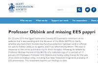 https://www.ees.ac.uk/news/professor-obbink-and-missing-ees-papyri)