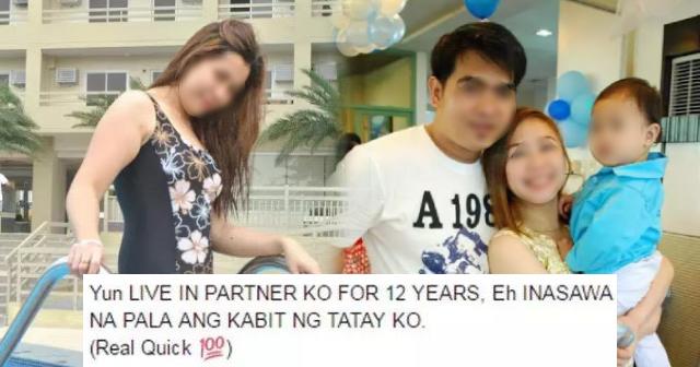Live-in partner ni babae, inasawa ang kabit ng tatay niya!