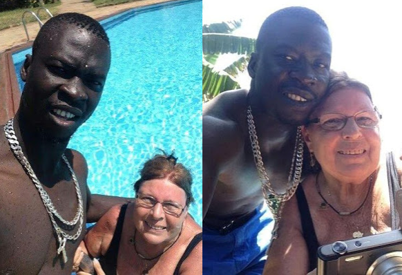 Photos of young black man and his elderly white lover goes viral