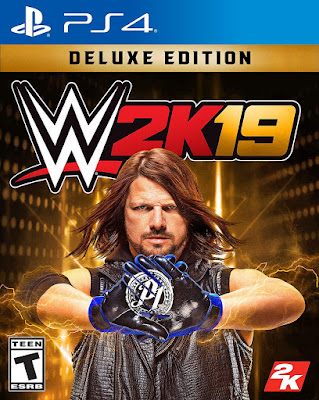 Wwe 2k19 Game Cover Ps4 Deluxe Edition