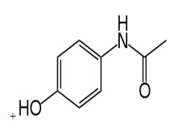 Chemical Structure of paracetamol