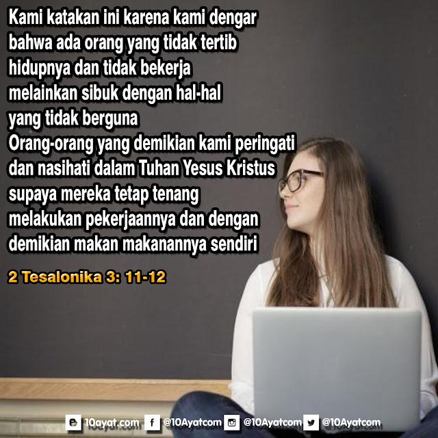 2 Tesalonika 3: 11-12