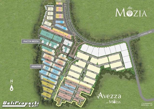 siteplan avezza at the-mozia bsd city