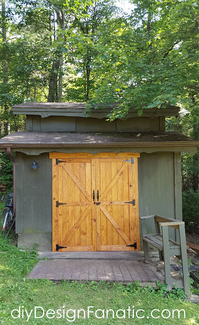 mountan cottage, woodshop doors, shed doors