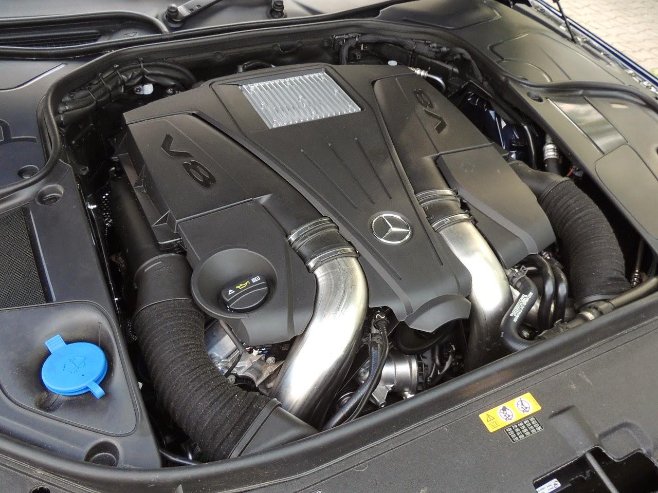 Mercedes S 500 L 4MATIC - silnik 4.7 V8 Biturbo