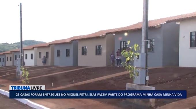25 casas foram entregues no Miguel Petri