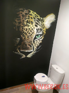 graffiti lavabo leopardo