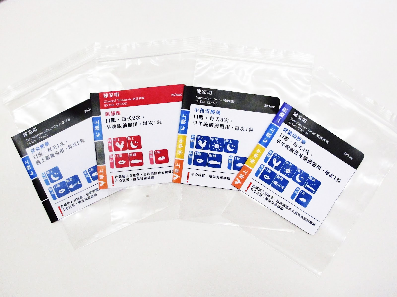 cherry wu: 藥物標籤設計