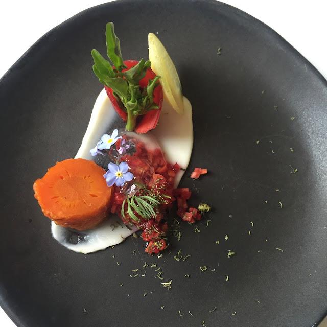 Carrot Rhubarb Amuse-Bouche