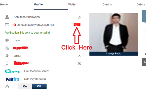 verify email and earn free paytm cash