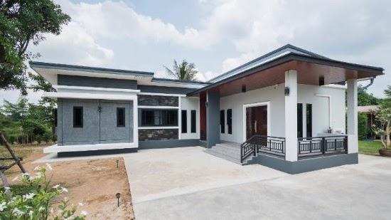 LINGKAR WARNA: 15 Inspirasi Desain Rumah Minimalis 1 Lantai Berbentuk L