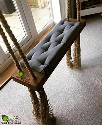 AD Planet Outdoor/Indoor Wooden Hanging Swing